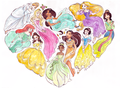 i heart princesses - disney-princess photo