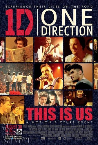 movie poster for 1d in 3d
