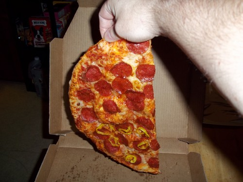 pizza was not even cut!!