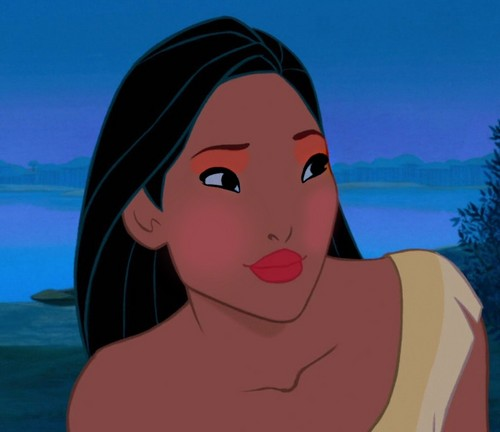 pocahontas' tribal look