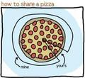 how to share a pizza - random fan art
