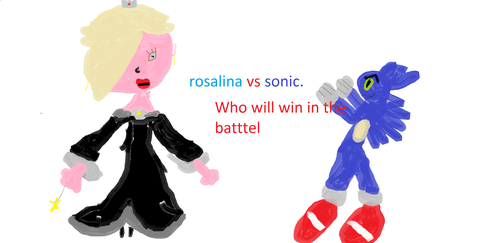 rosalina vs sonic by clarice