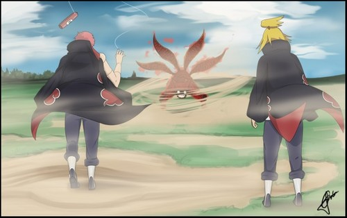 sasori and deidara vs four tails NARUTO -ナルト-