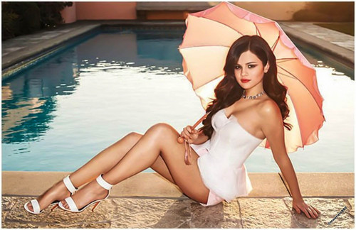 Selena Gomez wallpaper possibly containing a bikini and a parasol titled selena gomez, 2013