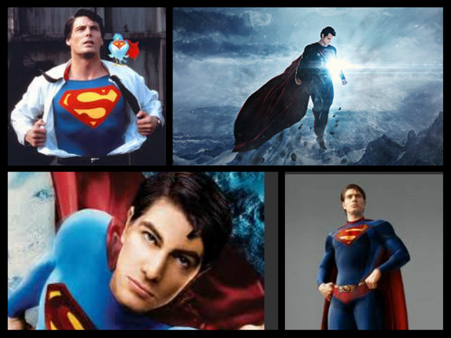 Superman kertas dinding titled super man