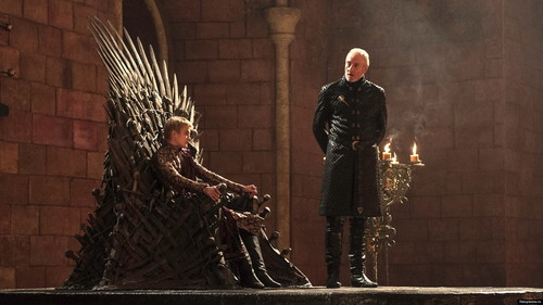 House Lannister wallpaper probably containing a throne titled tywin and joffrey