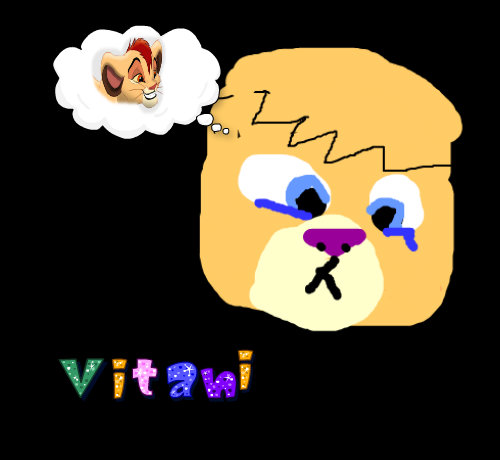 Vitani thinking of kopa - the-lion-king-2-simbas-pride fan art