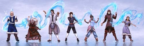 Avatar: The Legend of Korra wallpaper entitled water benders