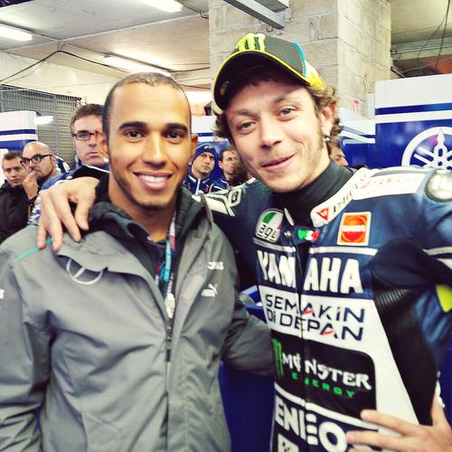 with Lewis Hamilton (Le Mans 2013)