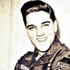Elvis Presley photo with a green beret, battle dress, and fatigues titled ★ Elvis ☆