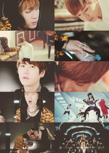 super junior fondo de pantalla probably containing a sign titled ♥ Henry - TRAP MV ♥