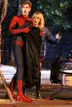'The Amazing Spiderman 2' Films in Chinatown - emma-stone photo