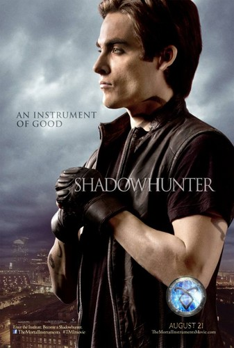 Alec & Magnus 壁紙 titled 'The Mortal Instruments: City of Bones' character poster