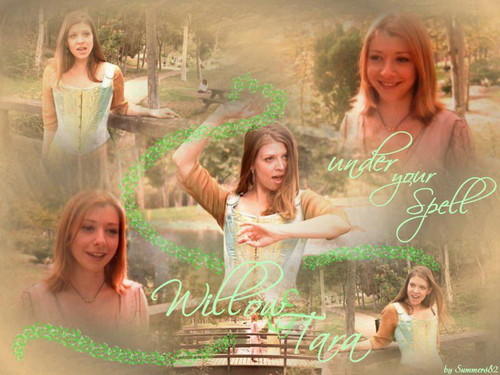 Buffy the Vampire Slayer wallpaper containing a fountain called  Willow & Tara