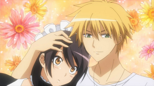 kawaii anime fondo de pantalla with anime titled ♥¸.•*´¯)*•usui x misaki.¸.•´¯`♡