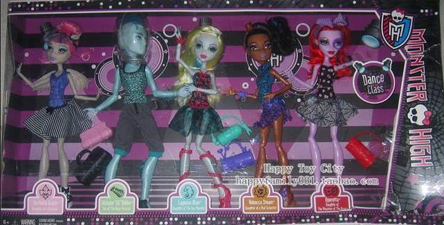 5 pack Dance poupées - credit