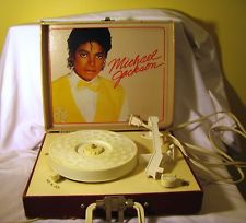 A Vintage Michael Jackson Record Player From The 1980's