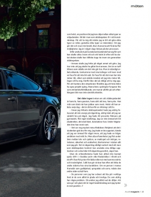 Joel Kinnaman fond d'écran possibly with a sedan called Audi MAGAZINE - AUGUST 2011