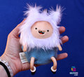 Adventure Time Finn the Human Soft Kriture - Handmade Plush Softie polymer clay Squeaky toy Фан art