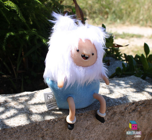 Adventure Time Finn the Human Soft Kriture - Handmade Plush Softie polymer clay Squeaky toy fan art