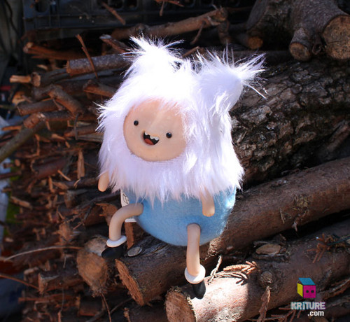 Adventure Time Finn the Human Soft Kriture - Handmade Plush Softie polymer clay Squeaky toy fan art