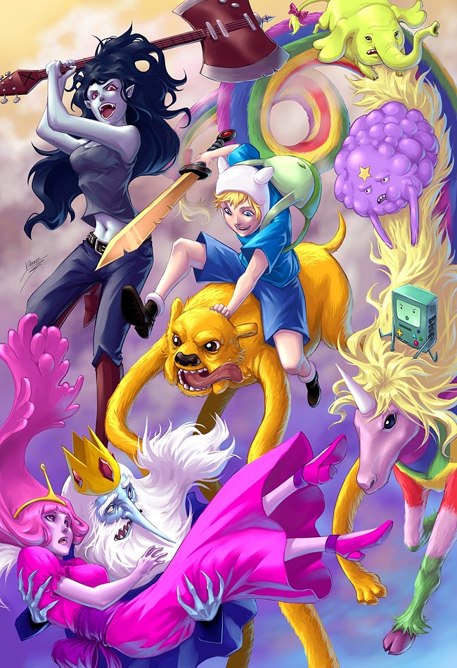 Adventure Time realistic animé