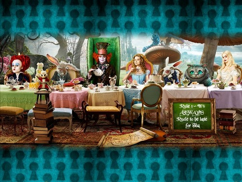 Alice in Wonderland (2010) wallpaper possibly containing a fountain entitled Alice in Wonderland!
