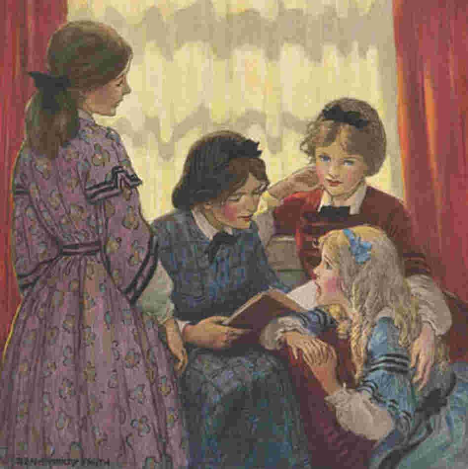 Little Women: Kami's Library Thoughts: Fan Art Friday: Little Women