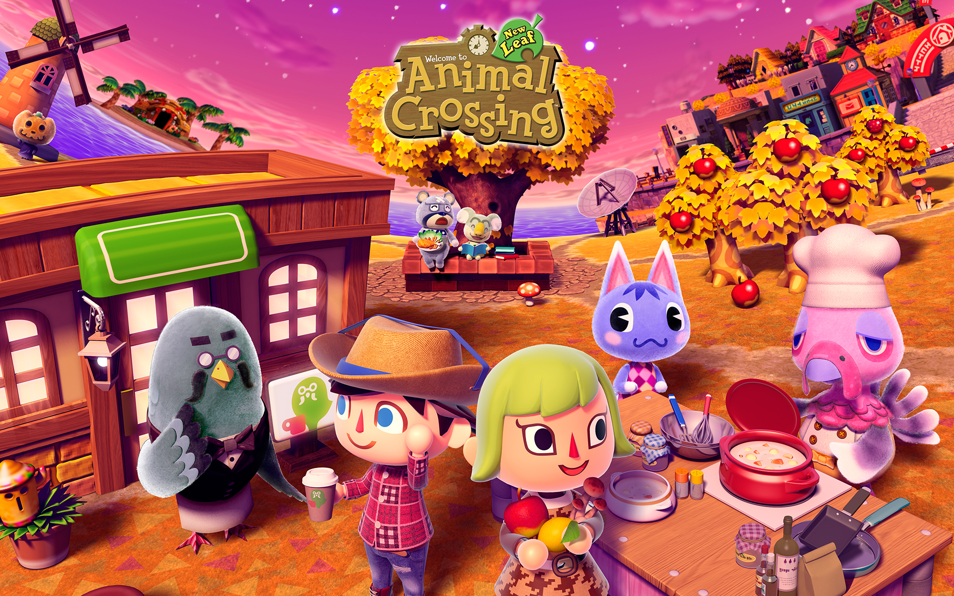 Cafe In Animal Crossing New Leaf