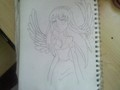 Anime angel - drawing photo