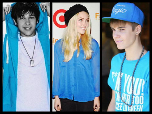 Austin Mahone wallpaper called Austin Mahone, AnnaSophia Robb and Justin Bieber