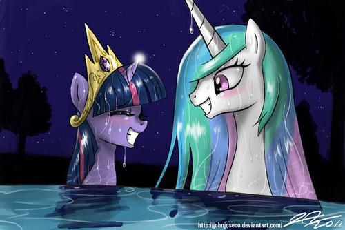 Princess Celestia fond d'écran possibly containing animé entitled Awesome Celestia pics