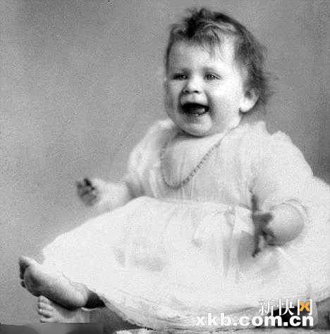 Baby foto's of Queen Elizabeth