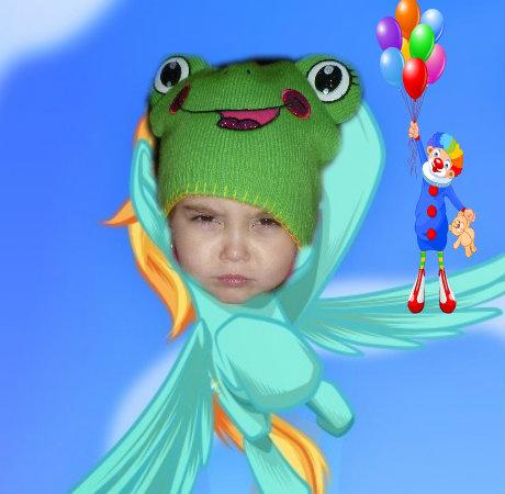 Bella the flying frog-pony