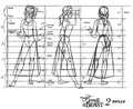 Belle Model Sheet - disney-princess fan art