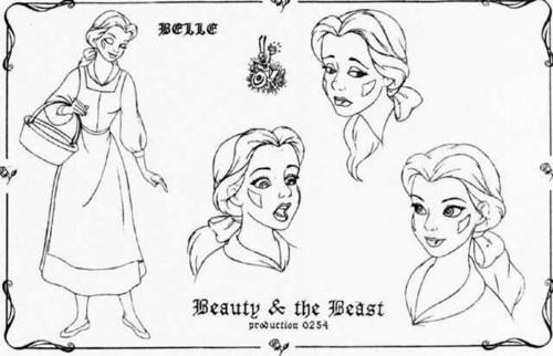 Belle Model Sheet