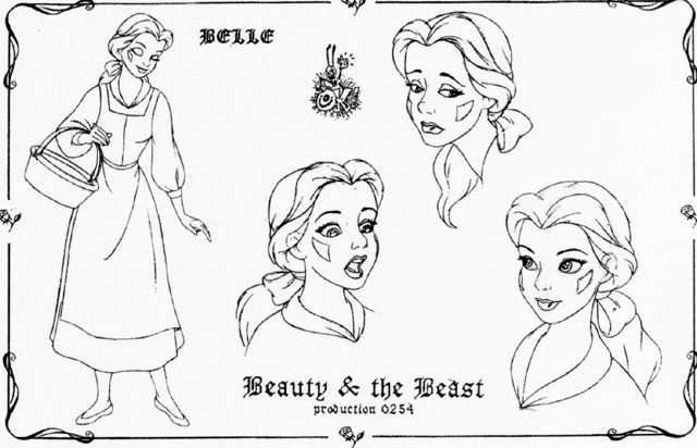 Disney Princess Belle Model