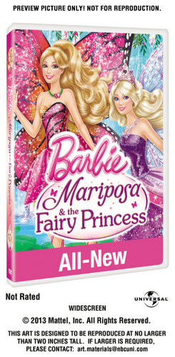 Blu-ray Packaging 3D Retail Barbie Mariposa and Fairy Princess