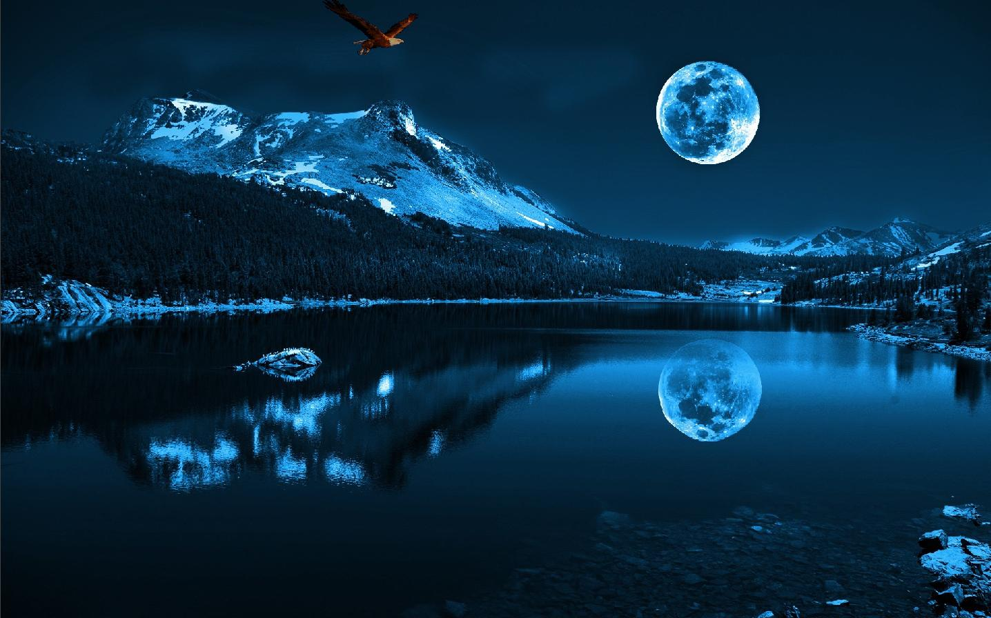 Blue Photos Blue Moon wallpaper blue