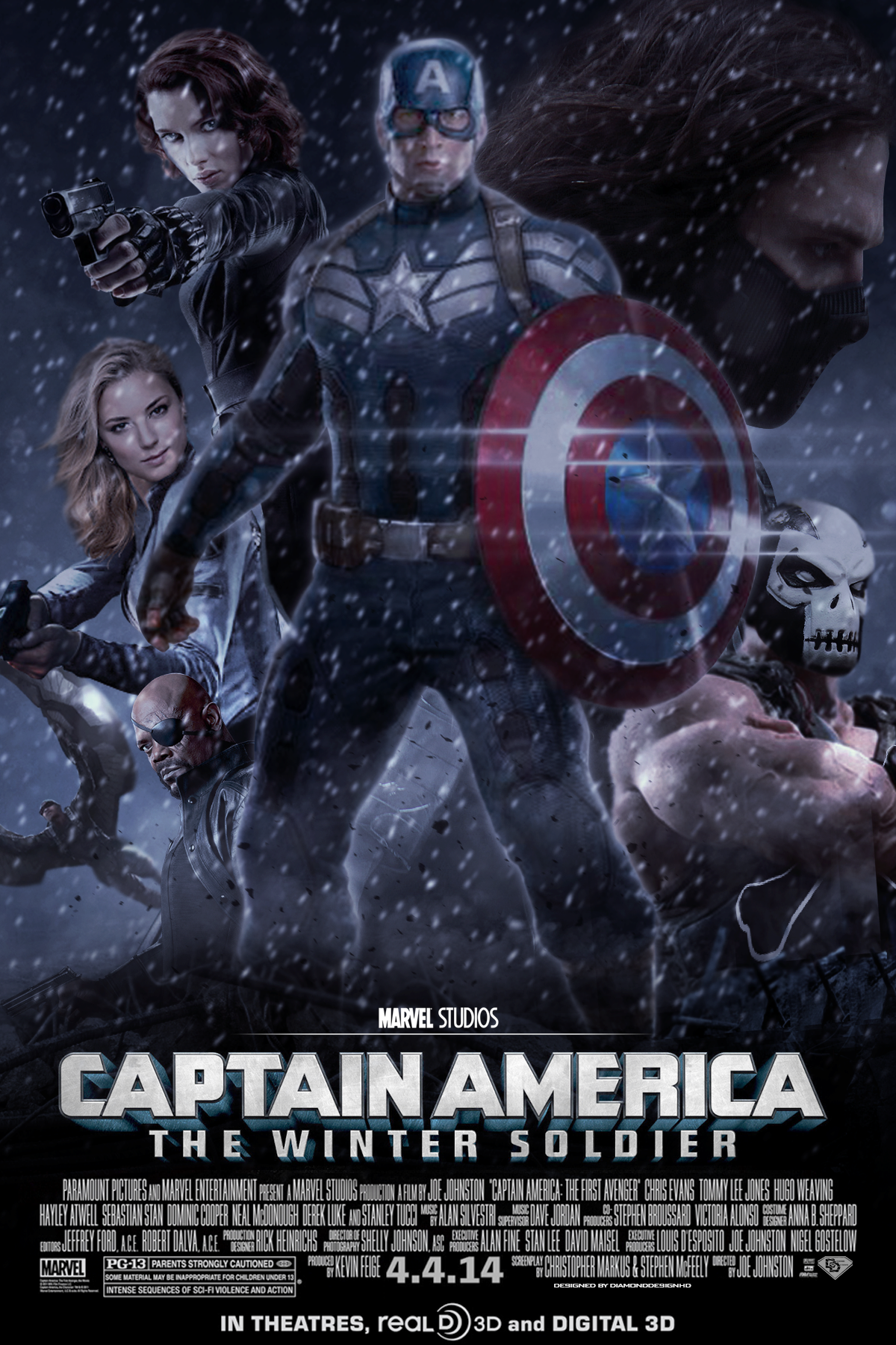 captain america the winter soldier fan made poster. Black Bedroom Furniture Sets. Home Design Ideas