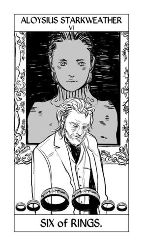 Cassandra Jean's Tarot Cards: Aloysius Starkweather {Six of Rings}.