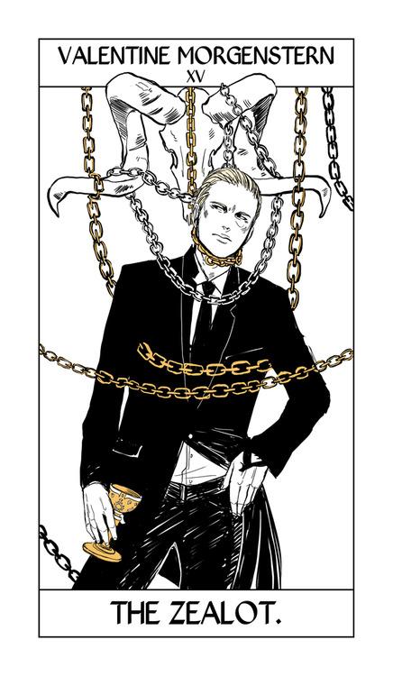 Cassandra Jean's Tarot Cards: Valentine Morgenstern {The Zealot}.