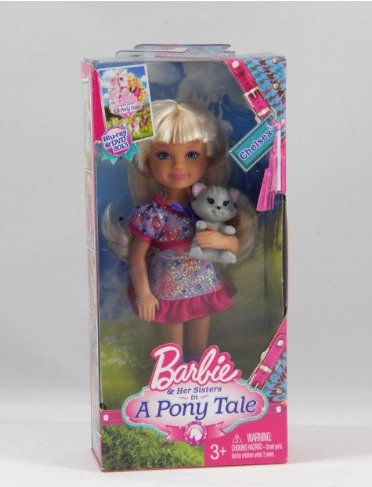 Chelsea doll with kitten from poni, pony tale