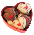 Chocolates in heart box