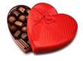 Chocolates in heart box - chocolate photo
