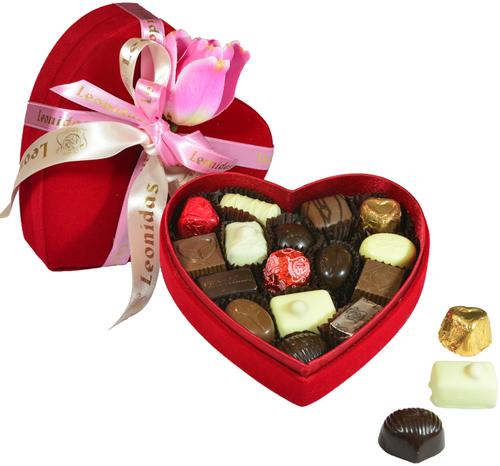 Chocolate wallpaper titled Chocolates in heart box