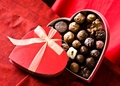 Chocolates in cuore box