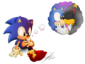 Classic Sonic & Shadow c:  - sonadow photo