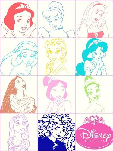 Colorful princesses