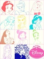 Colorful princesses - disney-princess fan art